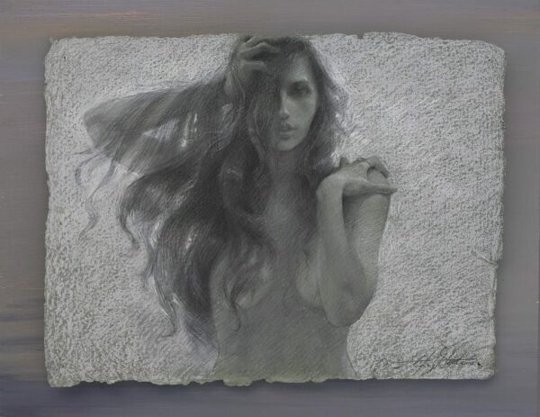 """American Legacy Fine Arts presents """"Into the World"""" a drawing by Alexey Steele."""