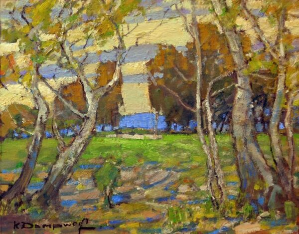 """American Legacy Fine Arts presents """"View from the Grove"""" a painting by Karl Dempwolf."""