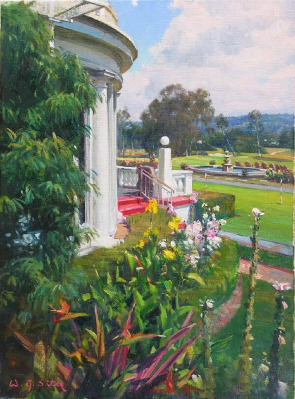 """American Legacy Fine Arts presents """"A Peaceful Morning"""" a painting by W. Jason Situ."""