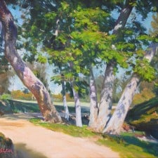 """American Legacy Fine Arts presents """"Breezy Day"""" a painting by W. Jason Situ."""