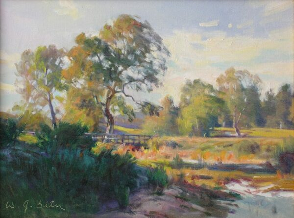 """American Legacy Fine Arts presents """"Golden Light"""" a painting by W. Jason Situ."""