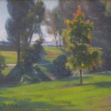 """American Legacy Fine Arts presents """"Clubhouse in the Distance"""" a painting by W. Jason Situ."""
