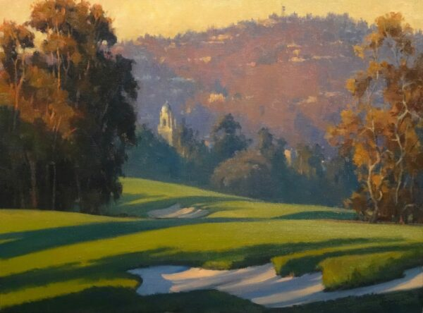 """American Legacy Fine Arts presents """"Rolling Shadows"""" a painting by Michael Obermeyer."""