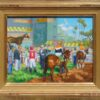 """American Legacy Fine Arts presents """"15 Minutes Before the Race"""" a painting by Peter Adams."""