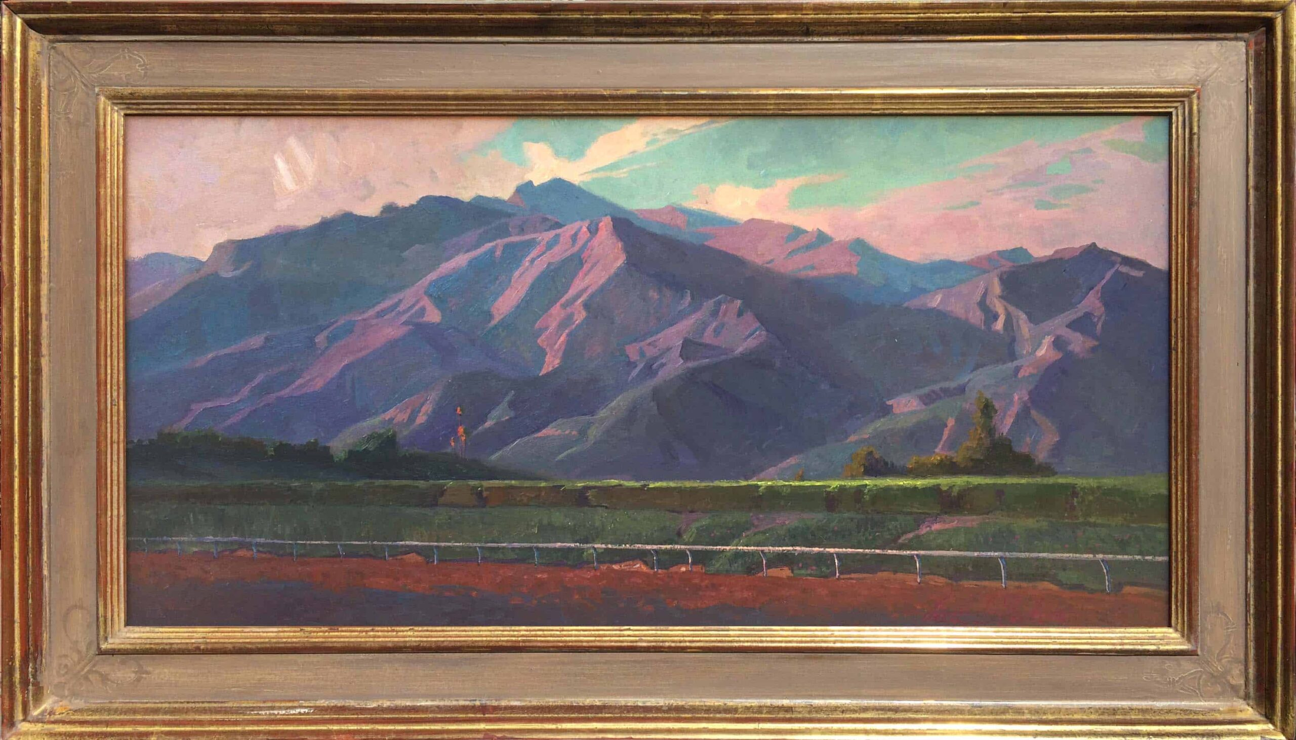 """American Legacy Fine Arts presents """"Morning Ride"""" a painting by Alexey Steele."""