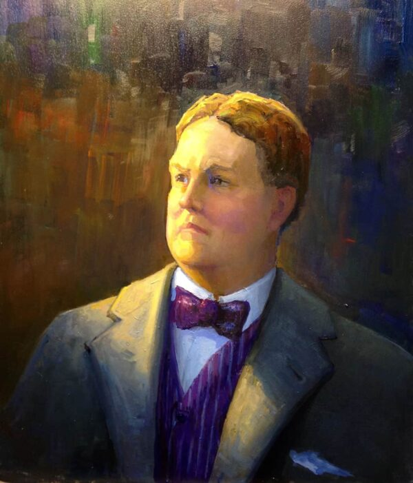 """American Legacy Fine Arts presents """"Edward B. Tufts"""" a painting by Peter Adams."""
