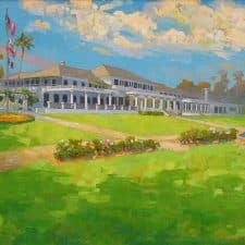 """American Legacy Fine Arts presents """"The New Clubhouse"""" a painting by Peter Adams."""