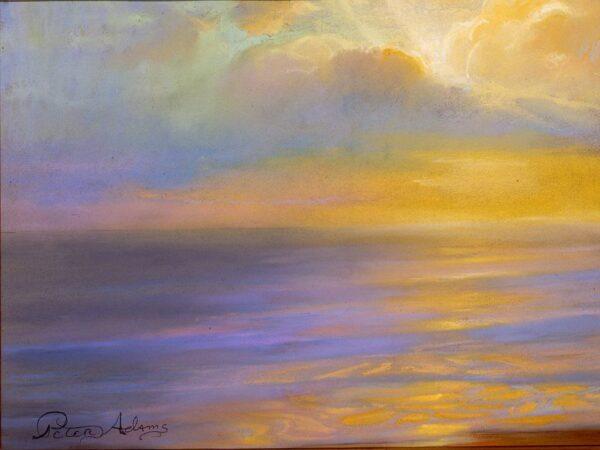 "American Legacy Fine Arts presents ""Autumn Cloudburst at Topanga"" a painting by Peter Adams."