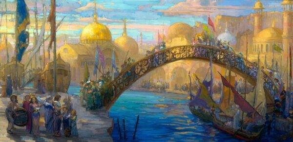 """American Legacy Fine Arts presents """"Carnivale"""" a painting by Peter Adams."""