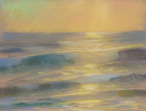 """American Legacy Fine Arts presents """"Glory; St. Malo, Carlsbad, California"""" a painting by Peter Adams."""
