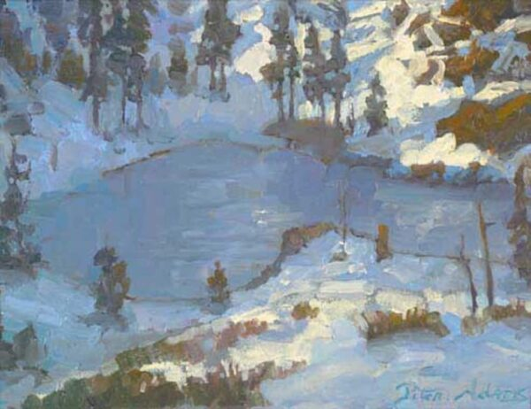 """American Legacy Fine Arts presents """"Heart Lake, Shasta"""" a painting by Peter Adams."""