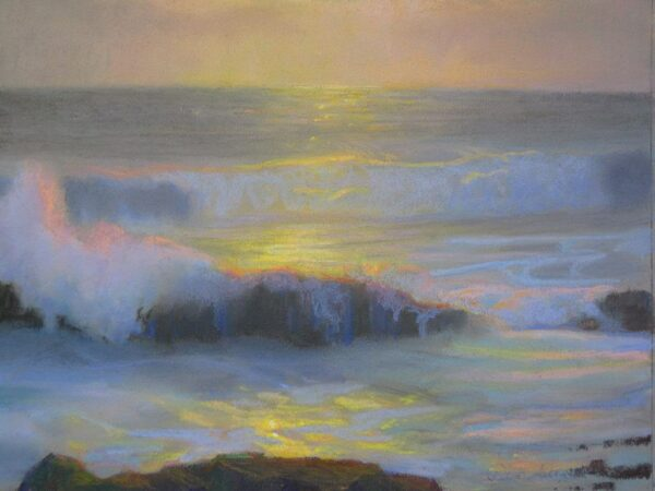 """American Legacy Fine Arts presents """"Laguna Sunset"""" a painting by Peter Adams."""