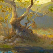 """American Legacy Fine Arts presents """"Octopus Tree"""" a painting by Peter Adams."""