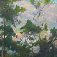 """American Legacy Fine Arts presents """"Overlooking the Arroyo"""" a painting by Peter Adams."""
