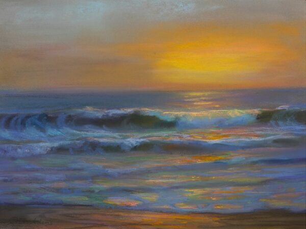 """American Legacy Fine Arts presents """"Pacific Gold"""" a painting by Peter Adams."""