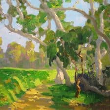 """American Legacy Fine Arts presents """"Patterns on the Rough by the 17th"""" a painting by Peter Adams."""