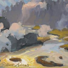 """American Legacy Fine Arts presents """"Plumes of Steam"""" a painting by Peter Adams."""