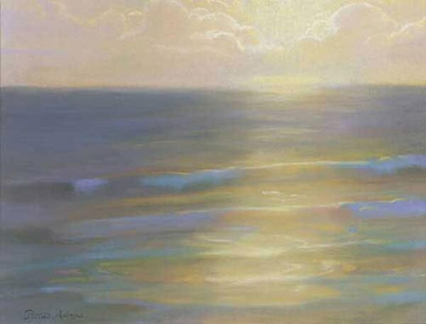 """American Legacy Fine Arts presents """"Soft Light and sea Mist"""" a painting by Peter Adams."""