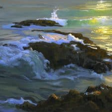 """American Legacy Fine Arts presents """"Summer Light at Woods Cove"""" a painting by Peter Adams."""