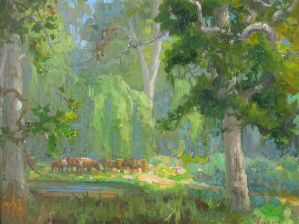 """American Legacy Fine Arts presents """"Tejon Forest"""" a painting by Peter Adams."""