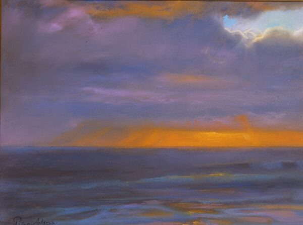 """American Legacy Fine Arts presents """"Winter Storm Cloud"""" a painting by Peter Adams."""
