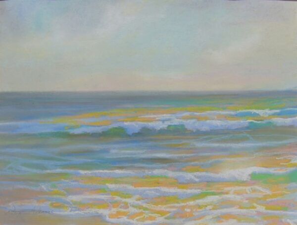 """American Legacy Fine Arts presents """"Summer Afternoon at St. Malo, Oceanside, California"""" a painting by Peter Adams."""