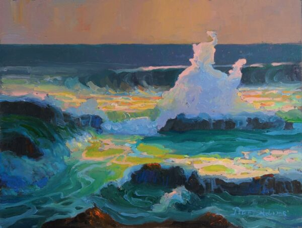 """American Legacy Fine Arts presents """"Summer at Treasure Island"""" a painting by Peter Adams."""