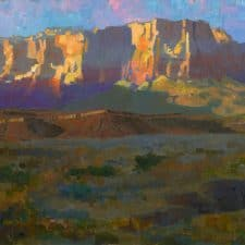 """American Legacy Fine Arts presents """"Desert Radiance; Vermillion Cliffs"""" a painting by Peter Adams."""