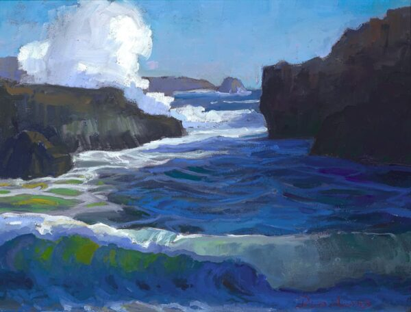"""American Legacy Fine Arts presents """"Pirate Cove, Pt. Lobos, Carmel"""" a painting by Peter Adams."""
