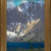 """American Legacy Fine Arts presents """"Windy Afternoon, Convict Lake"""" a painting by Peter Adams."""