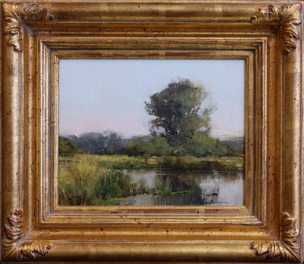 """American Legacy Fine Arts presents """"Montana Wetlands"""" a painting by Bill Anton."""