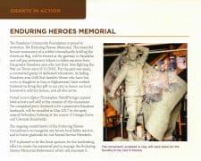 Pasadena Community Foundation Supports ALFA Artist Christopher Slatoff 's Enduring Heroes Monument Fall 2016