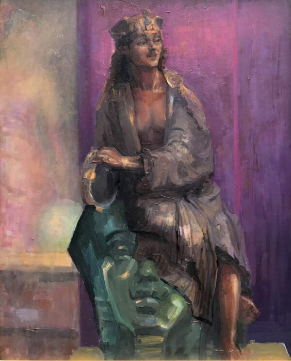 """American Legacy Fine Arts presents """"Cleopatra"""" a painting by peter Adams."""
