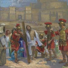 """American Legacy Fine Arts presents """"14 Stations of the Cross (10) Jesus is Stripped"""" a painting by Peter Adams."""