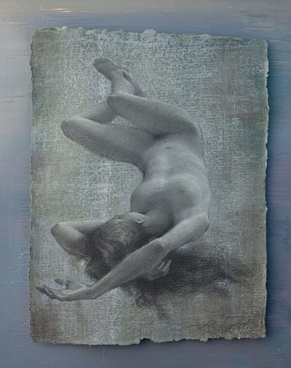 """American Legacy Fine Arts presents """"Sleep"""" a drawing by Alexey Steele."""