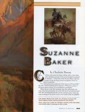 American Legacy Fine Arts presents Suzanne Baker in Cowboys and Indians Magazine October 2003 Issue.