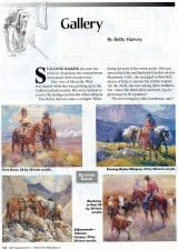American Legacy Fine Arts presents Suzanne Baker in Western Horseman Magazine, September 2001 Issue