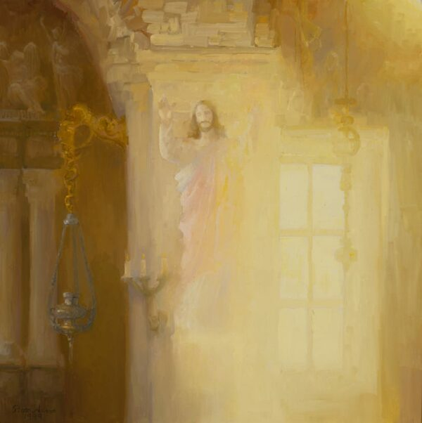 """American Legacy Fine Arts presents """"Light of Ornavasso"""" a painting by Peter Adams."""