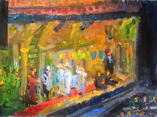 """American Legacy Fine Arts presents """"Abduction from the Seraglio"""" a painting by Peter Adams."""