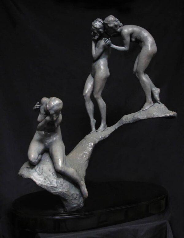 """American Legacy Fine Arts presents """"Lingering Shadows""""a sculpture by Alicia Ponzio."""