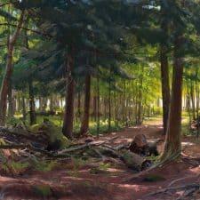 "American Legacy Fine Arts presents ""Ojibwe Sunrise"" a pinting by Joseph Paquet."