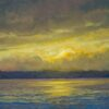 """American Legacy Fine Arts presents """"Lake Washington Two"""" a painting by Tony Peters."""