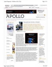 American Legacy Fine Arts presents Adrien Gottlieb in Apollo Online January 2013.