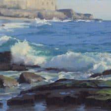 """American Legacy Fine Arts presents """"Breaking Water; Laguna"""" a painting by John Cosby."""