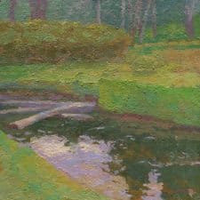 """American Legacy Fine Arts presents """"Still Waters"""" a painting by Daniel W. Pinkham."""
