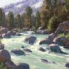 """American Legacy Fine Arts presents """" Spring Runoff"""" a painting by Jean LeGassick."""