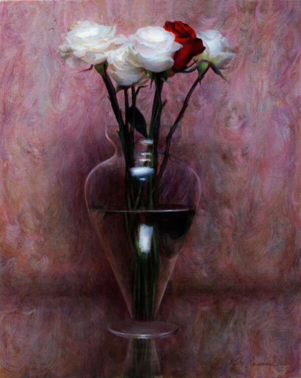 """American Legacy Fine Arts presents """"Bohemian Roses"""" a painting by Kate Sammons."""
