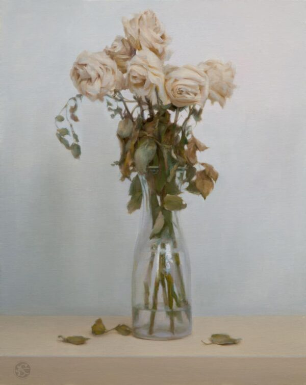 """American Legacy Fine Arts presents """"Dead Roses"""" a painting by Kate Sammons."""