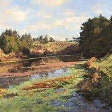 "American Legacy Fine Arts presents ""Lake Loleta Morning"" a painting by Jim McVicker."