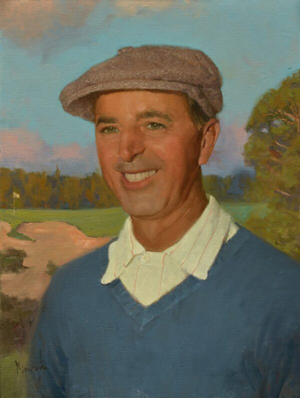 """American Legacy Fine Arts presents """"Portrait of George Fazio"""" a painting by Mian Situ."""